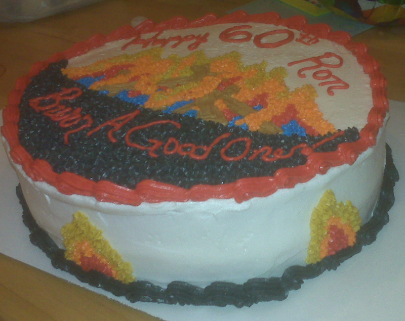 Fire Cake Side View