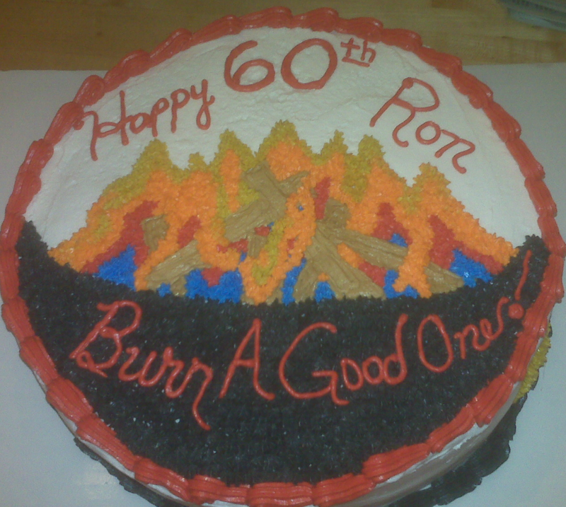Fire Bowl Cake
